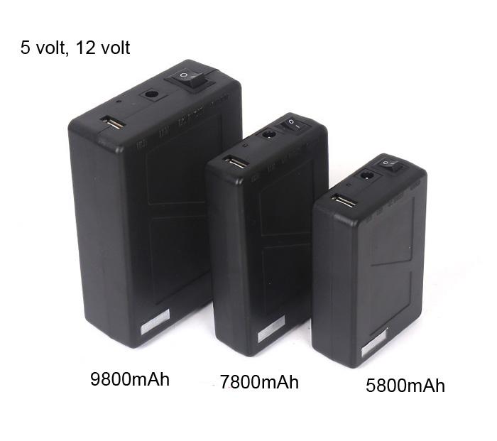 9800mah 12v power bank for router led strip camera