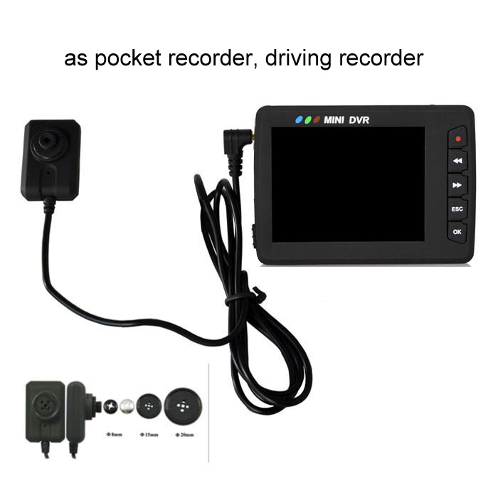 portable video recorder body worn camera mini covert button camera micropro DVR with button/screw kit all in one mini DVR
