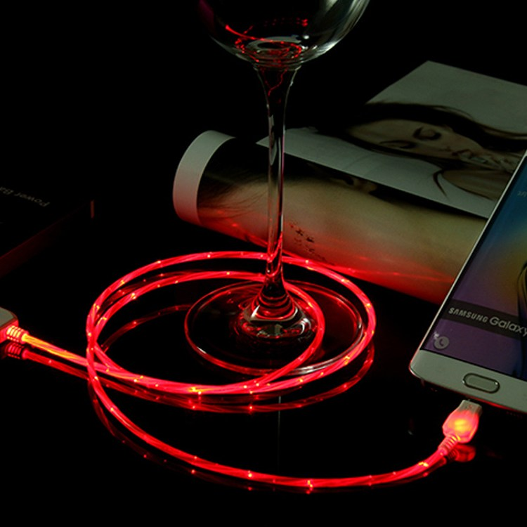 round cord, 360 degree visiable flowing light
