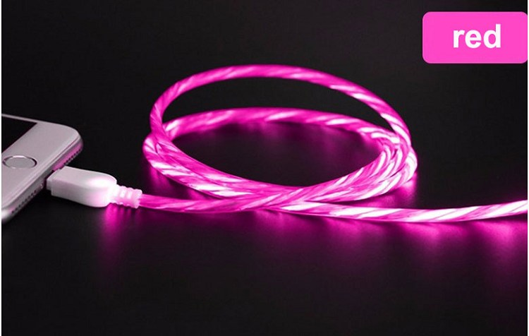 360 degree smart led light flowing led data cable usb cable