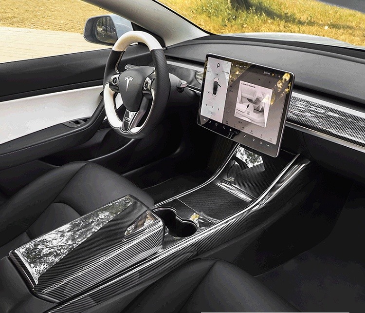 Car-dashboard-bar-decoration-stripe-cover-for-tesla-model-3